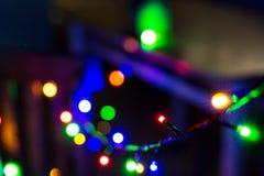 Kerstmislichten uit nadruk Royalty-vrije Stock Foto