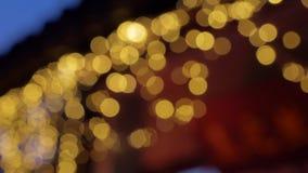 Kerstmislichten van de Bluredaaneenschakeling stock videobeelden