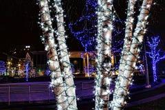 Kerstmislichten van Grand Rapids stock afbeelding