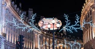 Kerstmislichten van Londen Royalty-vrije Stock Afbeelding