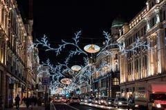Kerstmislichten van Londen Royalty-vrije Stock Afbeeldingen