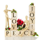 Kerstmisliefde, Vreugde, en Vrede Stock Fotografie