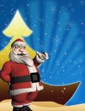 Kerstmismalplaatje met 3d Kerstman Royalty-vrije Stock Afbeelding
