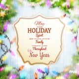 Kerstmismalplaatje met etiket Eps 10 Royalty-vrije Stock Afbeeldingen