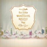Kerstmismalplaatje met etiket Eps 10 Royalty-vrije Stock Foto