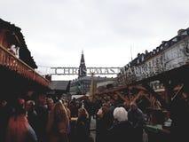 Kerstmismarkt royalty-vrije stock fotografie