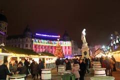 Kerstmismarkt Stock Foto