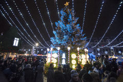 Kerstmismarkt 2014(10) Stock Afbeeldingen