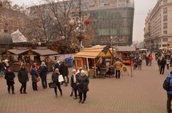 Kerstmismarkt Stock Afbeeldingen