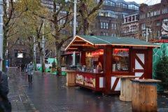 Kerstmismarkt, Amsterdam royalty-vrije stock afbeelding