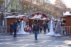Kerstmismarkt in Baku stad Stock Foto's