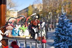 Kerstmismarkt in Baku stad Royalty-vrije Stock Foto