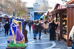 Kerstmismarkt in Baku stad Royalty-vrije Stock Afbeeldingen