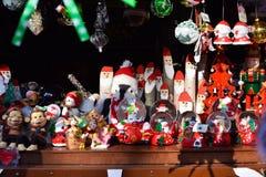 Kerstmismarkt in Baku stad Royalty-vrije Stock Foto's