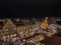 Kerstmismarkt in Bayreuth stock afbeelding