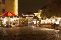 Kerstmismarkt in Boedapest Stock Foto's