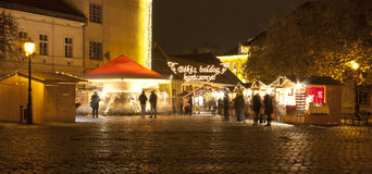 Kerstmismarkt in Boedapest Royalty-vrije Stock Afbeelding