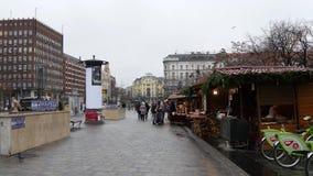 Kerstmismarkt Boedapest stock footage