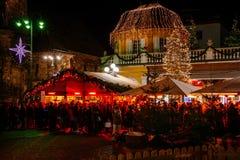 Kerstmismarkt in Bolzano, Trentino Alto Adige, Italië royalty-vrije stock foto