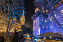 Kerstmismarkt in Braunschweig Stock Afbeelding