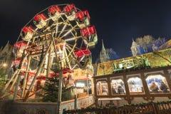 Kerstmismarkt in Braunschweig Royalty-vrije Stock Afbeeldingen