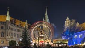 Kerstmismarkt in Braunschweig Stock Fotografie