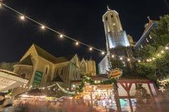 Kerstmismarkt in Braunschweig Royalty-vrije Stock Fotografie