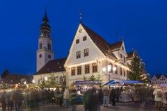 Kerstmismarkt in Celle Stock Foto