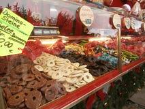 Kerstmismarkt in Dresden op Altmarkt-Vierkant, Duitsland, 2013 Royalty-vrije Stock Afbeelding