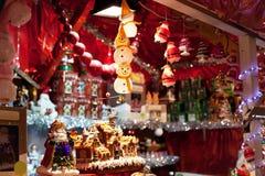 Kerstmismarkt in Europa royalty-vrije stock afbeelding