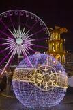 Kerstmismarkt in Gdansk stock afbeeldingen