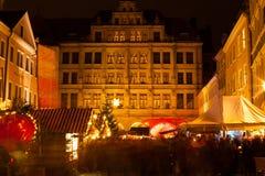 Kerstmismarkt in Goerlitz Stock Fotografie