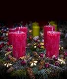 Kerstmismarkt in het centrum van München met Nieuwjaren en herinneringen voor de ingezetenen van de toeristenstad royalty-vrije stock afbeeldingen