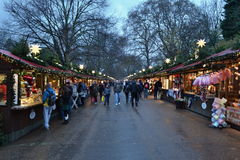 Kerstmismarkt Hyde Park London Royalty-vrije Stock Foto's