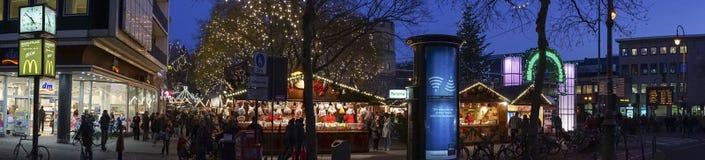 Kerstmismarkt in Keulen Stock Foto's