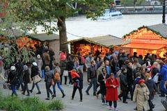 Kerstmismarkt in Londen Stock Foto