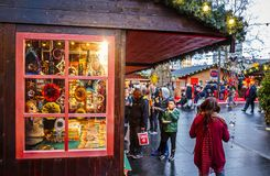 Kerstmismarkt, Londen, Engeland, het Verenigd Koninkrijk, Europa stock fotografie