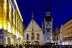 Kerstmismarkt in München Royalty-vrije Stock Foto
