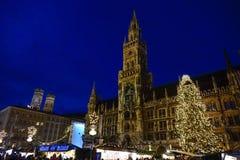 Kerstmismarkt in München Stock Foto