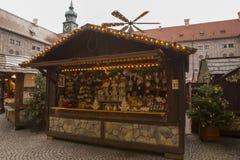 Kerstmismarkt in München Stock Afbeelding