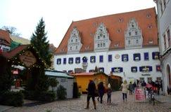 Kerstmismarkt Meissen Duitsland Stock Afbeelding