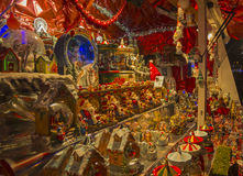 Kerstmismarkt in Parijs. Royalty-vrije Stock Afbeeldingen
