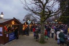 Kerstmismarkt in rottach-Egern, Beieren, Duitsland stock afbeelding