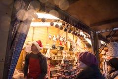 Kerstmismarkt in Rusland Stock Foto