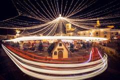 Kerstmismarkt Sibiu Roemenië royalty-vrije stock afbeeldingen