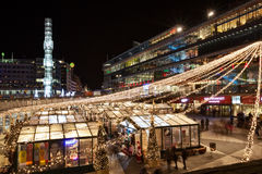 2015 Kerstmismarkt in Stockholm Stock Foto