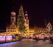 Kerstmismarkt van Chemnitz stock afbeelding