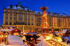 Kerstmismarkt van Dresden royalty-vrije stock afbeelding