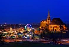 Kerstmismarkt van Erfurt Stock Afbeeldingen