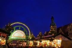 Kerstmismarkt van Leipzig Royalty-vrije Stock Foto's